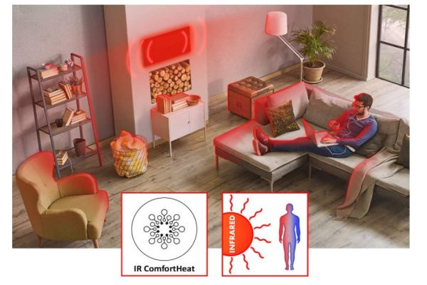 como funciona la calefacción por infrarrojos