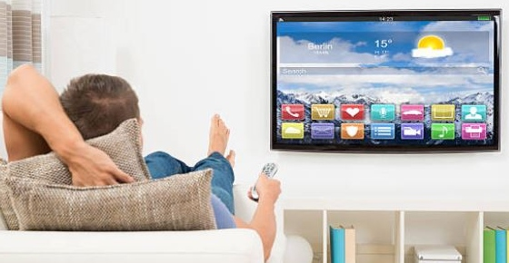 Una smart tv