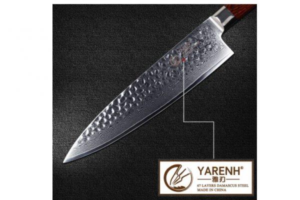 Cuchillo de acero damasco