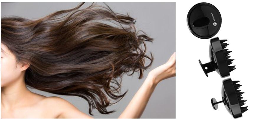 Cepillos masajeadores para el cuero cabelludo