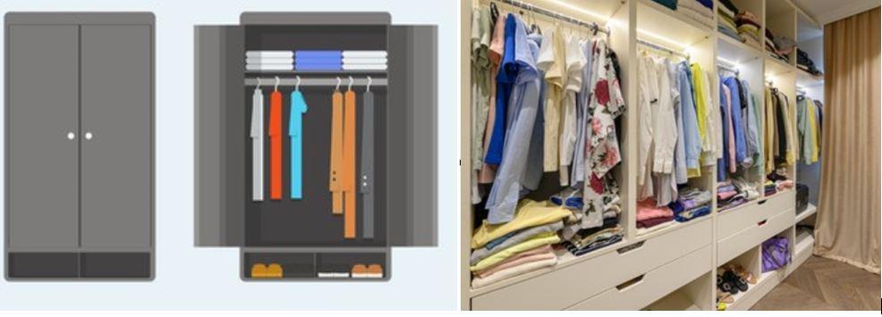 ventajas de los armarios abiertos