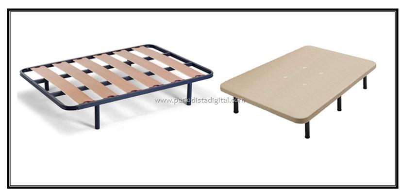 ¿Qué es mejor somier de láminas o base tapizada?