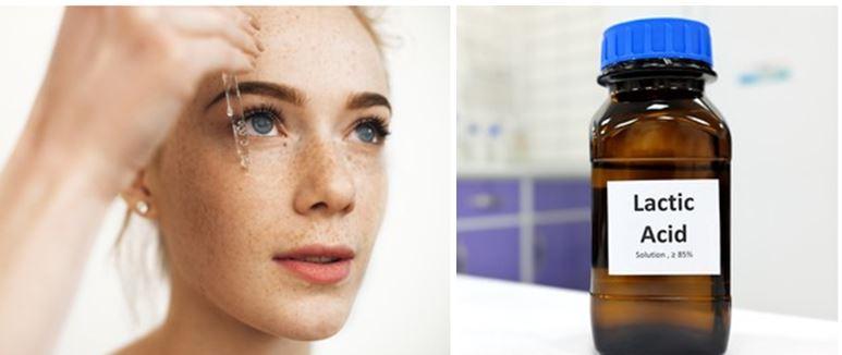 ¿Qué hace el ácido láctico en la piel?