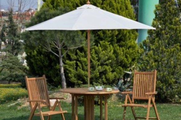 Mesas de jardín con agujero para sombrilla más vendidas de Amazon
