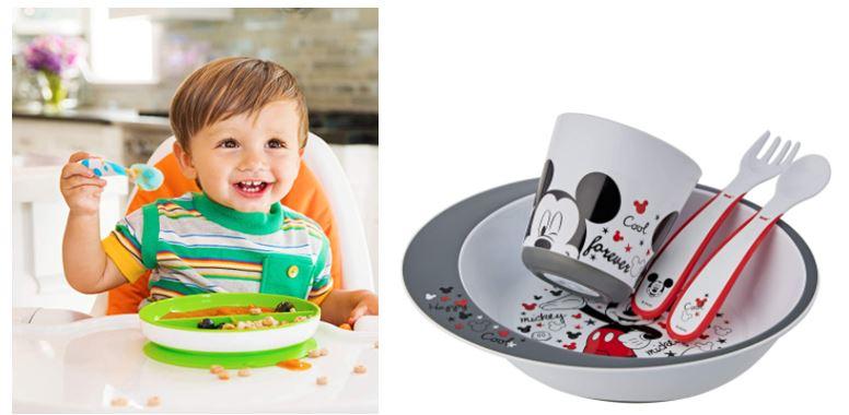 Platos y cubiertos para bebés